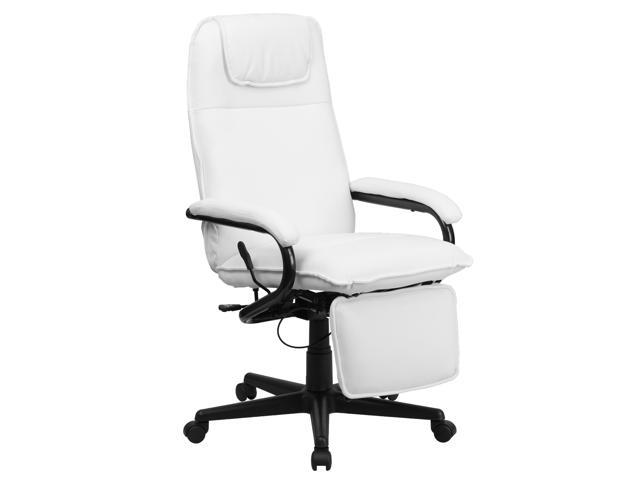 Flash Furniture High Back White Leather Executive Reclining Office Chair [BT-70172-WH-GG]