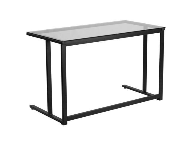 Desk with Clear Glass Top