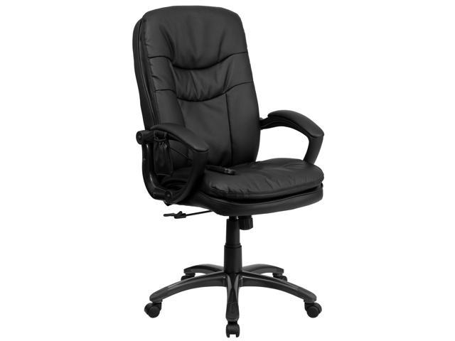 Flash Furniture Mid-Back Massaging Black Leather Executive Office Chair [BT-9585P-GG]