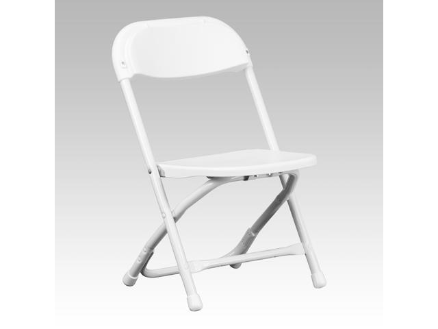 Flash Furniture Kids White Plastic Folding Chair [Y-KID-WH-GG]