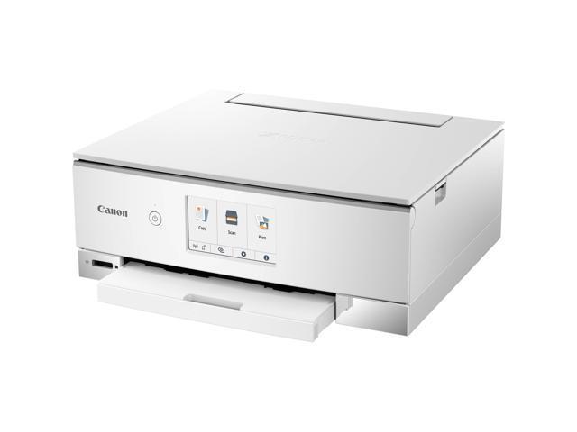 Canon PIXMA TS8220 (2987C022) Duplex 4800 DPI x 1200 DPI Wireless/USB Color Inkjet All-In-One Printer - White