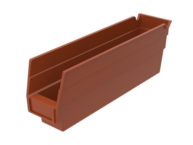 Home Indoor Outdoor Storage Shelf Bins Terra Cotta 24Pk Earthsaver 11.62 X 2.75 X 4