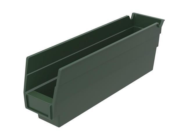 Home Indoor Outdoor Storage Shelf Bins Hunter Green 24Pk Earthsaver 11.62 X 2.75 X 4