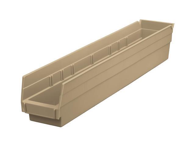 Home Indoor Outdoor Storage Shelf Bins Sandstone 12Pk Earth Saver 23.62 X 4.12 X 4