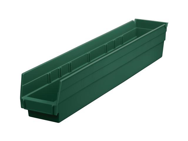Home Indoor Outdoor Storage Shelf Bins Hunter Green 12Pk Earth Saver 23.62 X 4.12 X 4