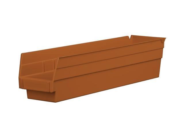 Home Indoor Outdoor Storage Shelf Bins Terra Cotta 12Pk Earth Saver 17.87 X 4.12 X 4