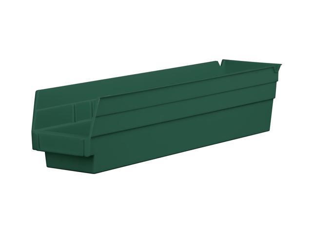 Home Indoor Outdoor Storage Shelf Bins Hunter Green 12Pk Earth Saver 17.87 X 4.12 X 4