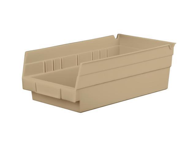 Home Indoor Outdoor Storage Shelf Bins Sandstone Earth Saver 12Pk 11.62 X 6.62 X 4