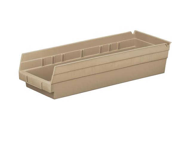 Home Indoor Outdoor Storage Shelf Bins Sandstone 12Pk Earth Saver 17.87 X 6.62 X 4
