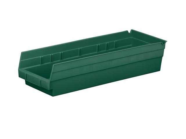 Home Indoor Outdoor Storage Shelf Bins Hunter Green 12Pk Earth Saver 17.87 X 6.62 X 6