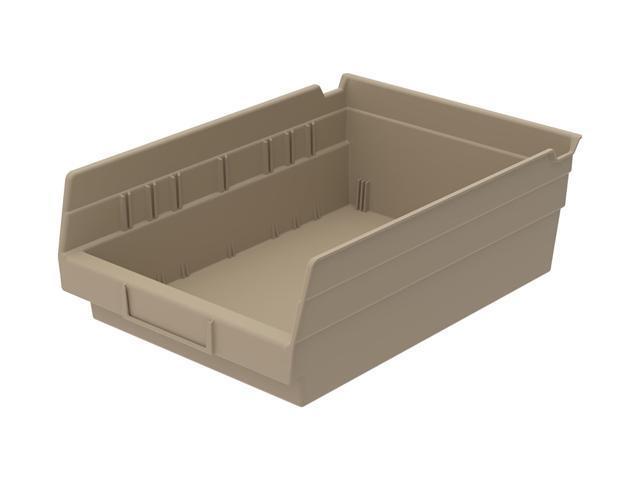 Home Indoor Outdoor Storage Shelf Bins Sandstone 12Pk Earthsaver 11.62 X 8.37 X 4