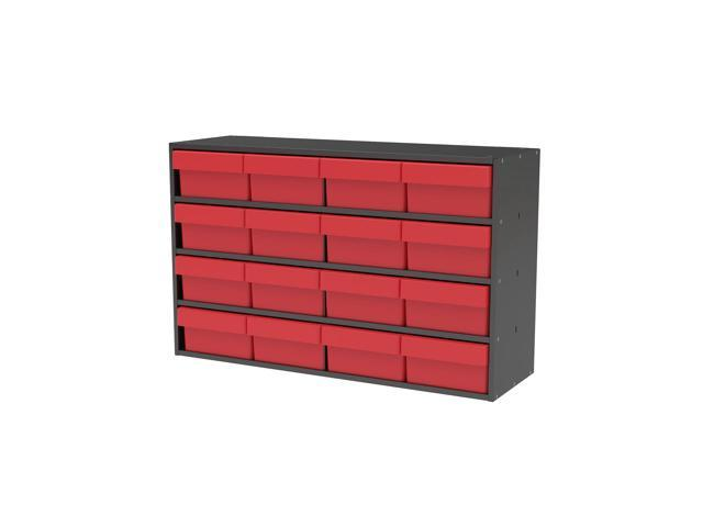 Akromils Textured Charcoal Cabinet w/ 31182 Red