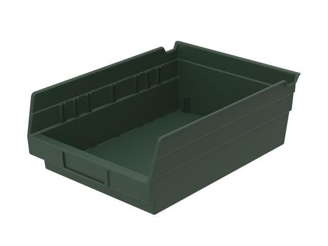 Home Indoor Outdoor Storage Shelf Bins Hunter Green 12Pk Earthsaver 11.62 X 8.37 X 6
