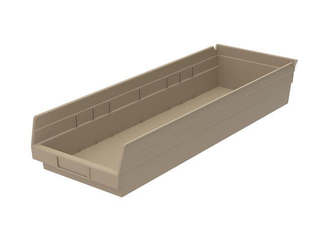 Home Indoor Outdoor Storage Shelf Bins Sandstone 6Pk Earth Saver 23.62 X 6.62 X 4