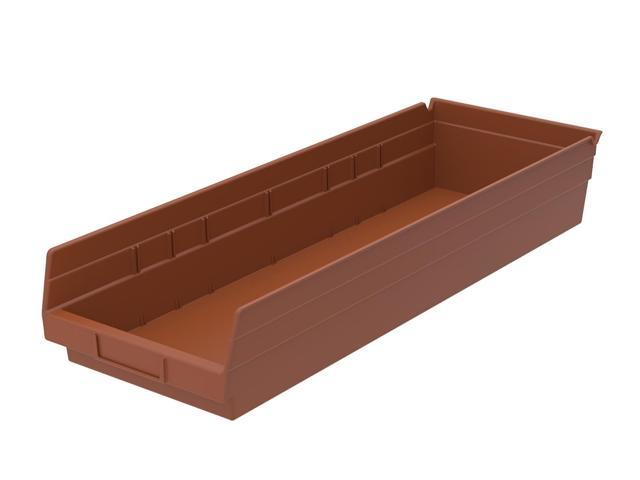 Home Indoor Outdoor Storage Shelf Bins Terra Cotta 6Pk Earth Saver 23.62 X 6.62 X 5