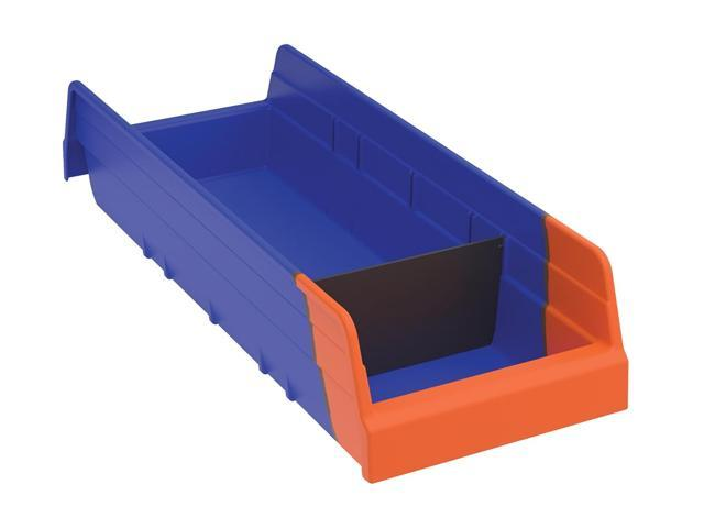 Akromils Indicator Bin Blue/orange 12 Pack - 17.87x 6.62x 4