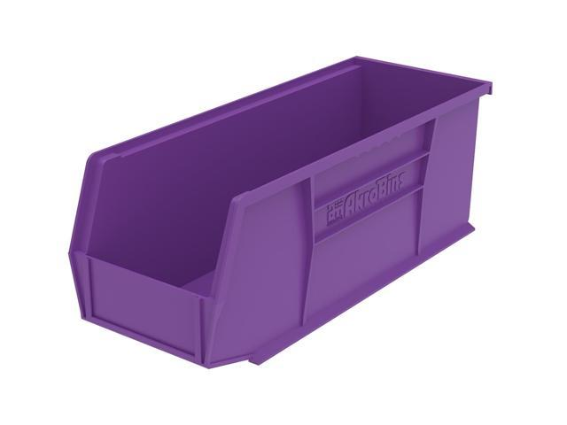 Akromils Home Indoor Multipurpose Plastic Stack Storage Hang Bin Purple 24 Pack 10.87X 4.12X 4