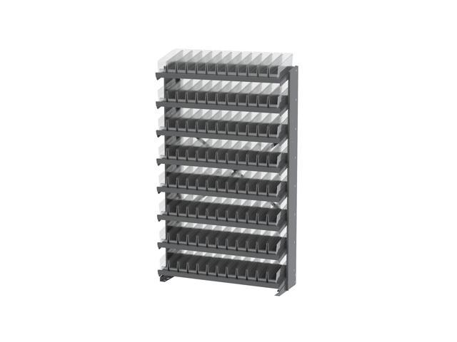 8 Shelves Single Sided Pick Rack With Clear Shelf Storage 30110SCLAR Bins