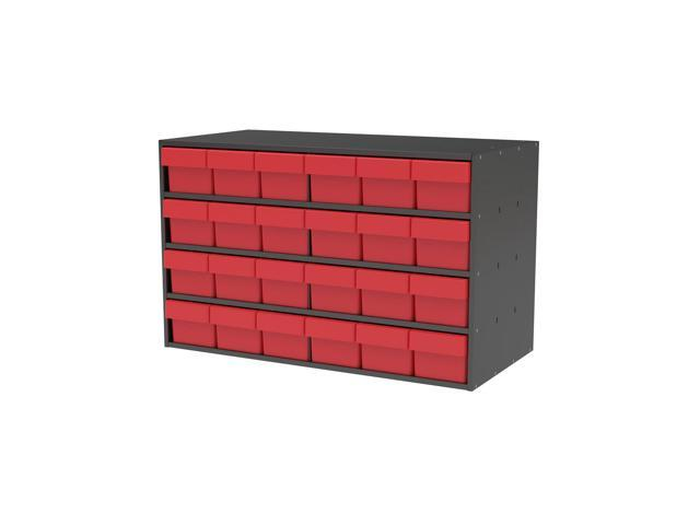 Akromils Textured Charcoal Cabinet with 31168 Red
