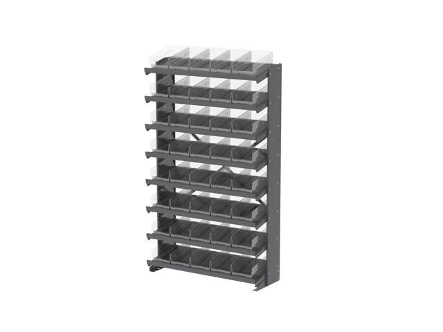 8 Shelves Single Sided Pick Rack With Clear Shelf Storage 30130SCLAR Bins