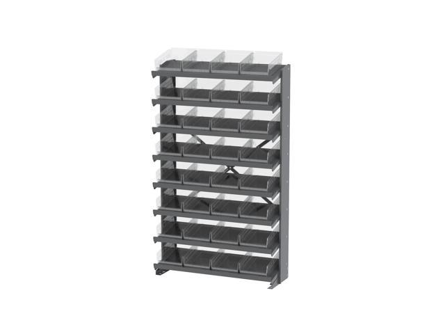 Akromils 8 Shelves Single Sided Pick Rack With Clear Shelf Storage 30150SCLAR Bins