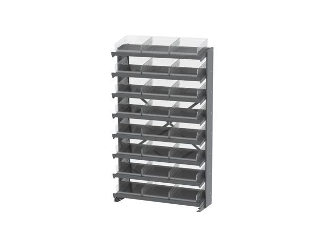 8 Shelves Single Sided Pick Rack With Clear Shelf Storage 30170SCLAR Bins
