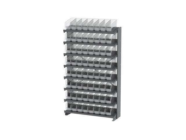 Akromils 8 Shelves Single Sided Pick Rack With Clear Shelf Storage 30040SCLAR Bins