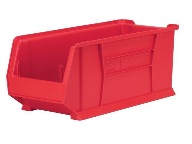 Akromils 300 Lbs Capacity Mobile Kit Storage Organizer Bin Red 4 Pack 23.87X 11X 10