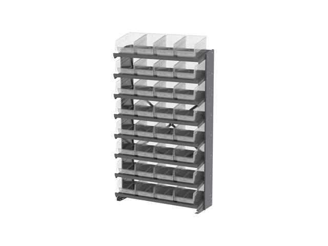 8 Shelves Single Sided Pick Rack With Clear Shelf Storage 30080SCLAR Bins