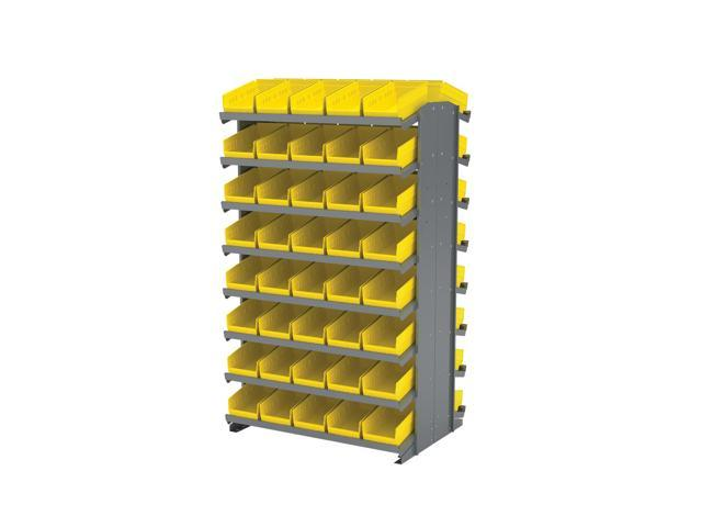 16 Shelves Double Sided Pick Rack With 30130 Yellow Storage Bins