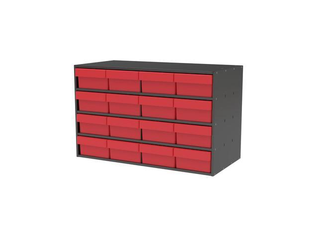 Akromils Textured Charcoal Cabinet with 31188 Red