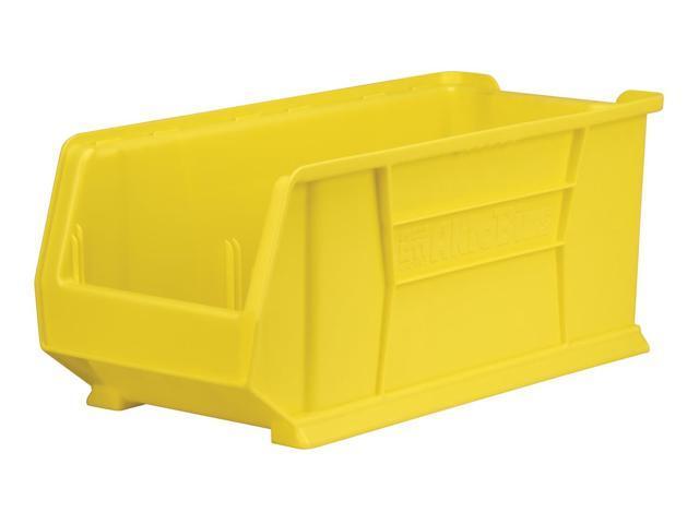 300 Lbs Capacity Mobile Kit Stacking Storage Organizer Bin Yellow 4 Pack 23.87X 11X 10