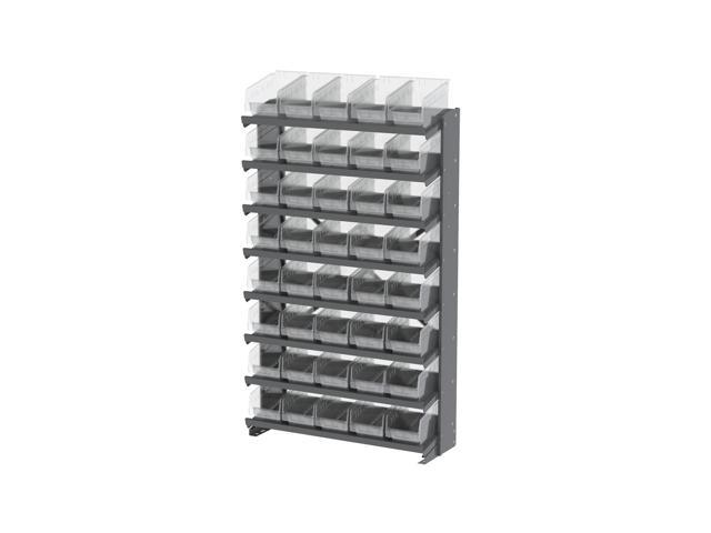 8 Shelves Single Sided Pick Rack With Clear Shelf Storage 30090SCLAR Bins