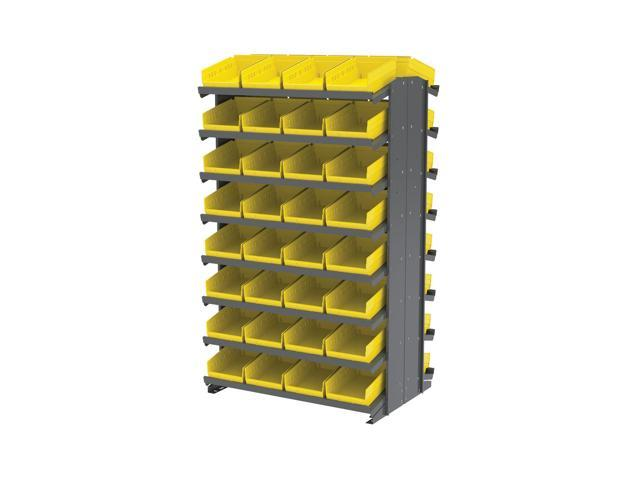 16 Shelves Double Sided Pick Rack With 30150 Yellow Storage Bins
