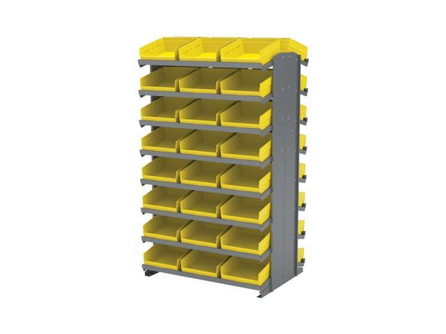 16 Shelves Double Sided Pick Rack With 30170 Yellow Storage Bins