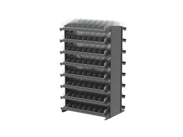 16 Shelves Double Sided Pick Rack With Clear Shelf Storage 30120SCLAR Bins