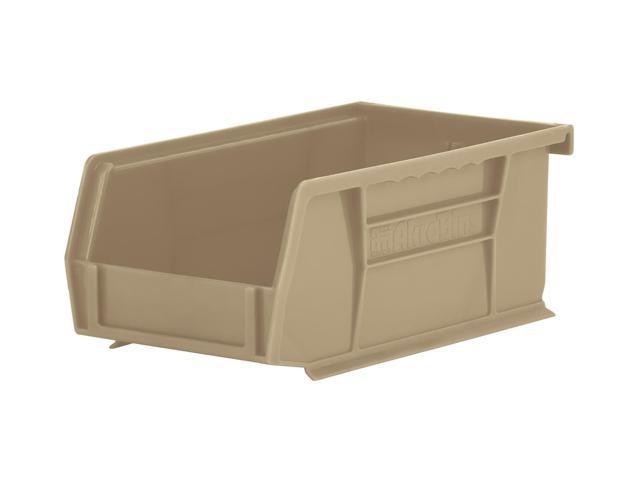 Home Industrial 24 Pack Earth Saver Recycled Plastic Storage Shelf Bin Organizer, Sandstone 7.37X 4.12X 3