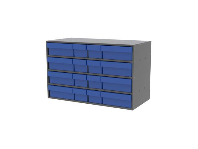 Akromils Textured Charcoal Cabinet with 31118 & 31168 Blue