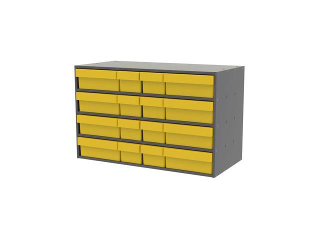 Akromils Textured Charcoal Cabinet with 31118 & 31168 Yellow
