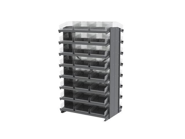 16 Shelves Double Sided Pick Rack With Clear Shelf Storage 30170SCLAR Bins