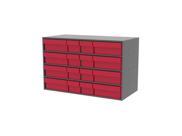 Akromils Textured Charcoal Cabinet with 31118 & 31168 Red