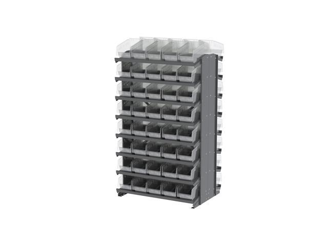 16 Shelves Double Sided Pick Rack With Clear Shelf Storage 30090SCLAR Bins