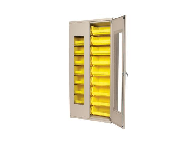 Akromils Quick View Security Cabinet with 18 (30250) yellow AkroBins