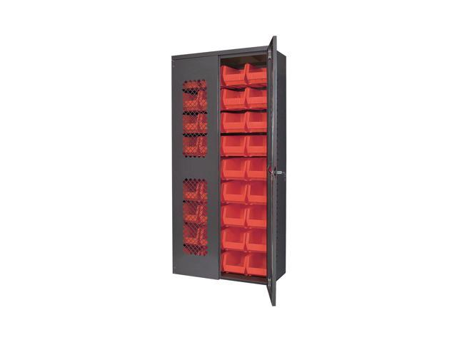 Akromils Cabinet with Red AkroBins