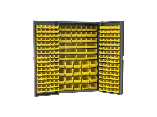 Akromils Heavy Duty Cabinet with Louvers / Yellow AkroBins