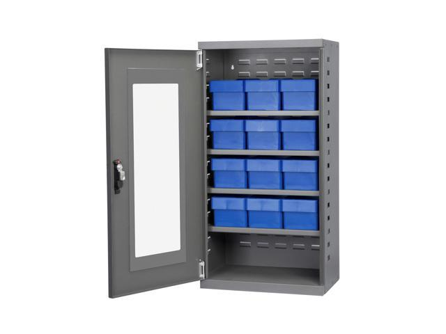 Akromils Secure Textured Charcoal Quick View Cabinet w/ 31162 Blue