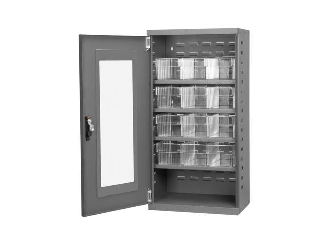 Akromils Secure Textured Charcoal Quick View Cabinet w/ 31162 Crystal Clear