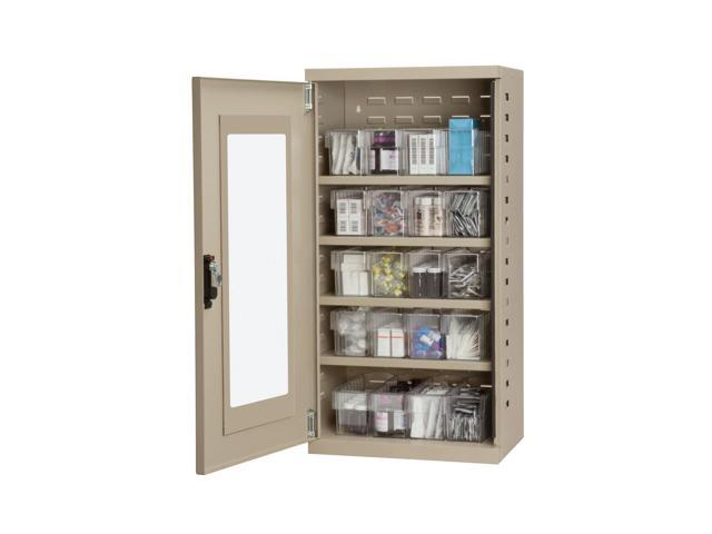 Akromils Textured Putty Quick View Cabinet w/ 31142 Crystal Clear