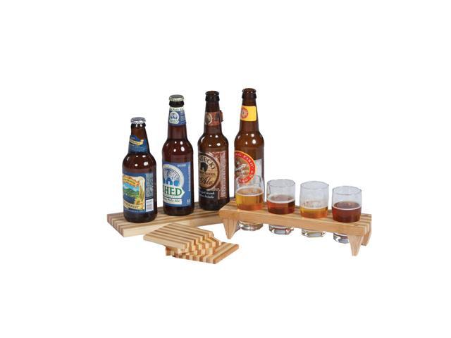 Picnic Plus Craft Beer Sampler Set Bamboo