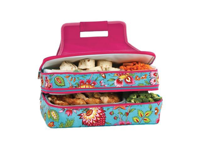 Picnic Plus Entertainer Hot And Cold Food Carrier Madeline Turquoise